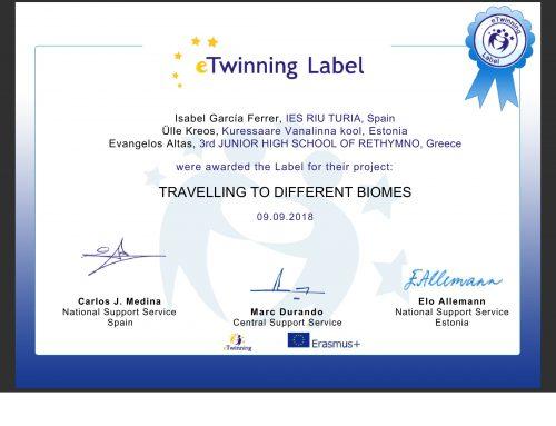 'Εναρξη Ευρωπαικού Προγράμματος συνεργασίας σχολείων  e-Twinning